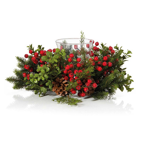 Berry & Pine Centrepiece Red