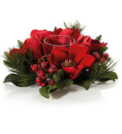 Red Magnolia Centrepiece - Red