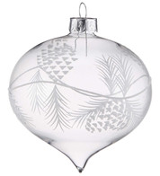 Pine Cone Etched Onions - Clear