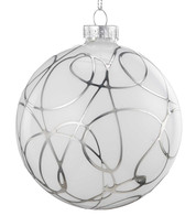 Silver Squiggle Bauble - Silver