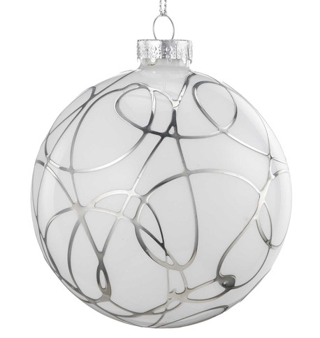 Silver Squiggle Bauble Silver