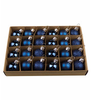 Midnight Blue 30mm Baubles - Blue