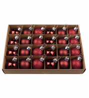 Wine Red 30mm BAUBLES - Red
