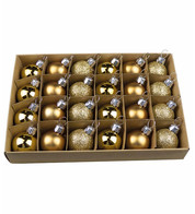 Gold 30mm Baubles - Gold