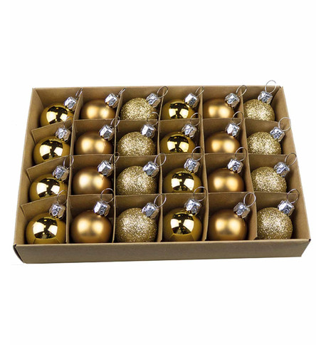 Gold 30mm Baubles Gold