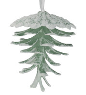 Glittered Moss Pine Cones - Moss White