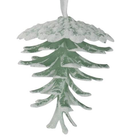 Glittered Moss Pine Cones Moss White