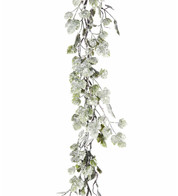 Snowy Grape Leaf Garland - Green