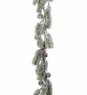 Frosted Fir Garland - Green