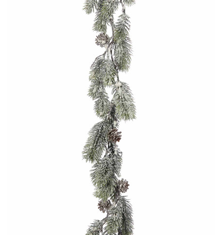 Frosted Fir Garland Green