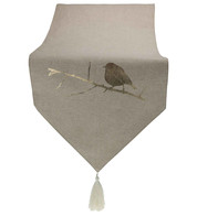 Gold Robin Natural Table Runner - Gold