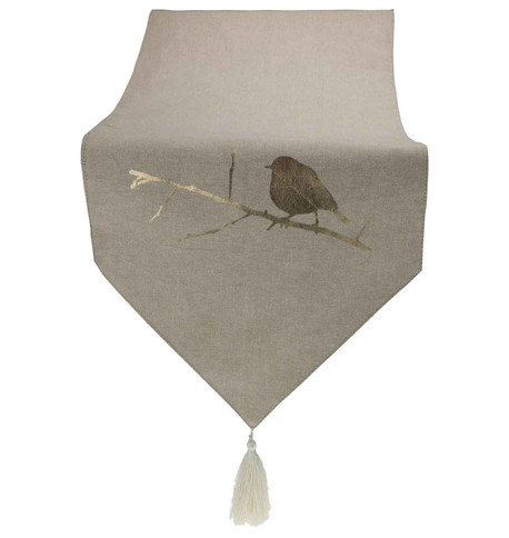 Gold Robin Natural Table Runner Gold