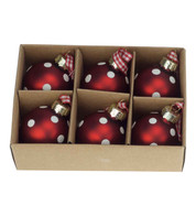 Mini Spot Red Baubles - Red