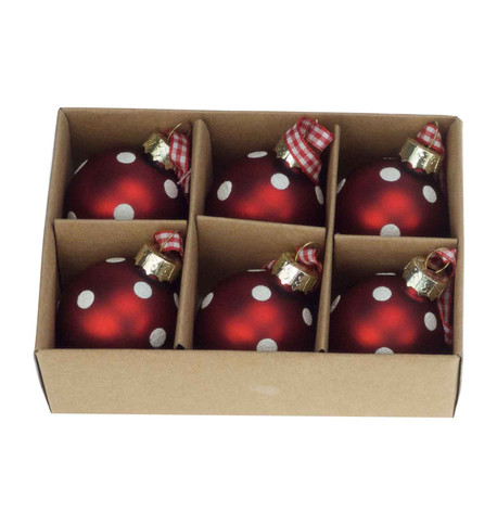 Mini Spot Red Baubles Red