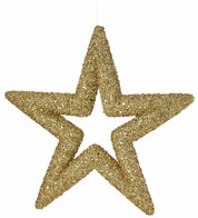 Gold Sequin Glitter Stars - Gold