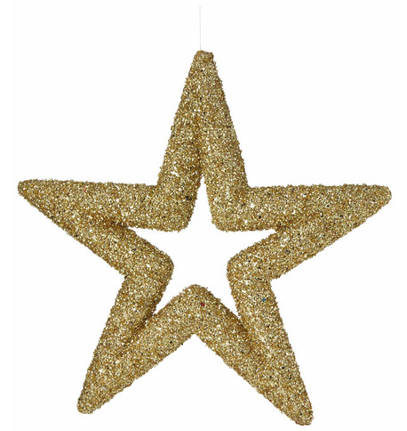 Gold Sequin Glitter Stars Gold