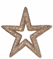 Rose Gold Sequin Glitter Stars - Rose Gold