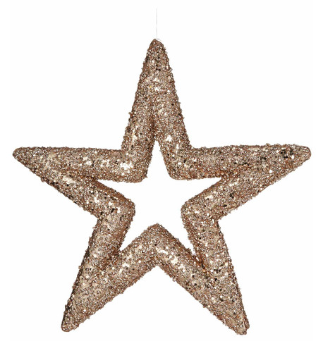 Rose Gold Sequin Glitter Stars Rose Gold