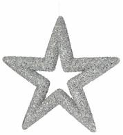 Silver Sequin Glitter Stars - Silver