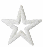 White Sequin Glitter Stars - White