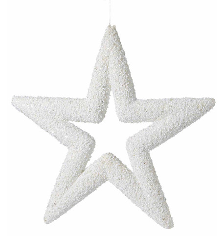 White Sequin Glitter Stars White
