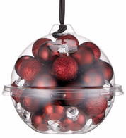 Wine Bauble Ball Set - Red