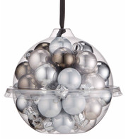 Silver Bauble Ball Set - Silver