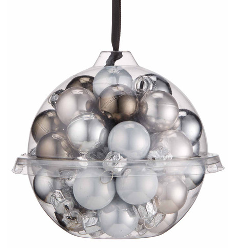 Silver Bauble Ball Set Silver