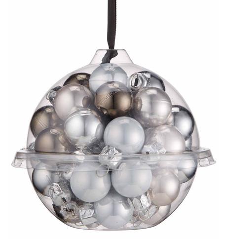 Silver Bauble Ball Set Silver