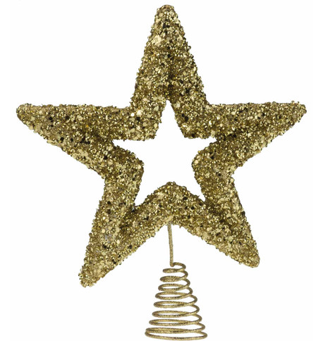 Gold Sequin Tree Topper Gold