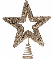 Rose Gold Sequin Tree Topper - Rose Gold