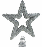 Silver Sequin Tree Topper - Silver