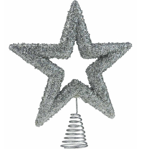 Silver Sequin Tree Topper Silver