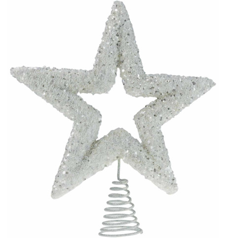 White Sequin Tree Topper White