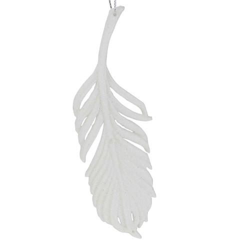 White Glitter Feather White