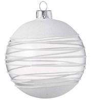 White Swirl Bauble - White