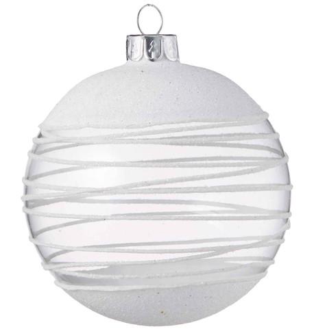 White Swirl Bauble White
