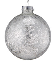 Silver Sequin Baubles - Silver
