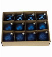 Midnight Blue 48mm Baubles - Blue