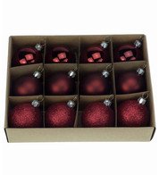 Wine 48mm Baubles - Red