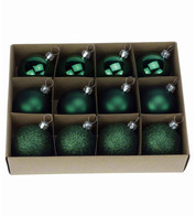 Bottle Green 48mm Baubles - Green