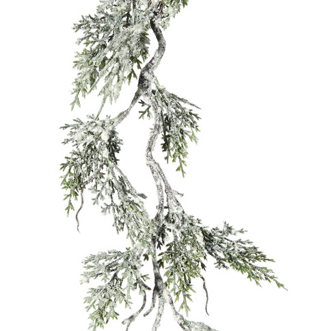Snowy Cedar Garland - delivery W/C 29 Oct Green
