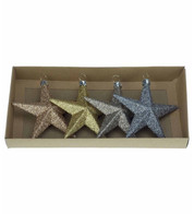 Champagne Glitter star set - Gold