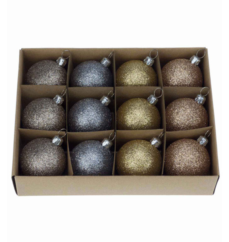 Champagne Glitter 48mm Baubles Champagne