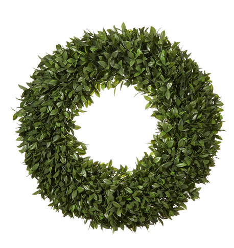 Boxwood Topiary Wreath Green