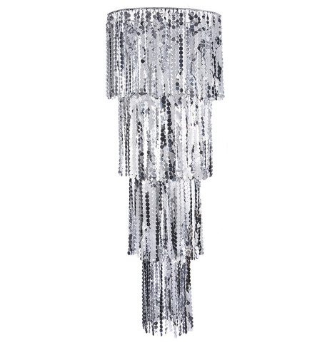 Giant Silver Sequin Chandelier Silver