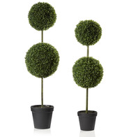 Box Ball Topiary Trees - Green