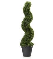 Box Swirl Topiary Tree - Green