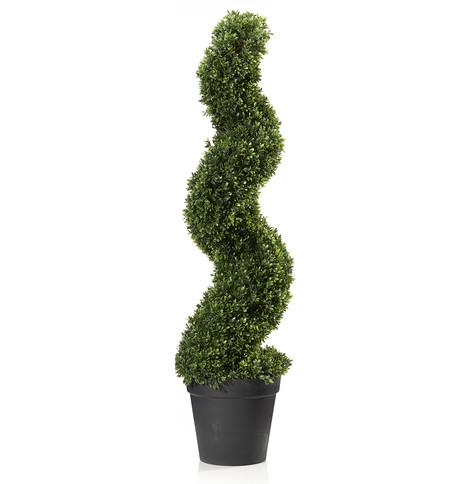 Box Swirl Topiary Tree Green