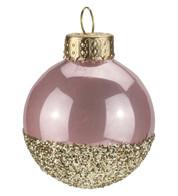 Pink Gold Glitter Baubles - Pink
